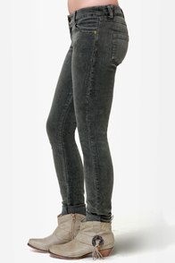 Quiksilver Woodstock Grey Corduroy Skinny Pants at Lulus.com!