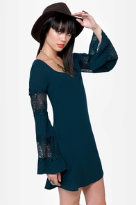 Sleeve It to Me Blue Shift Dress