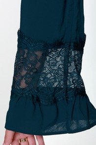 Sleeve It to Me Blue Shift Dress at Lulus.com!