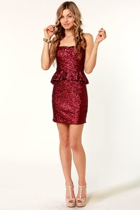 Ruby Tuesday Red Sequin Dress at Lulus.com!