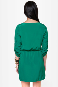 Keeping It Casual Green Dress at Lulus.com!