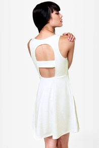 Sicilian Sweetheart Cutout Ivory Dress at Lulus.com!