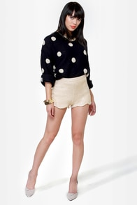Endless Posh-ibilities Beige Sequin Shorts at Lulus.com!