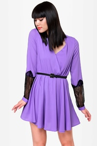 Cuffington Post Lavender Dress