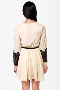 Cuffington Post Cream Dress at Lulus.com!