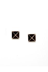 Luxor Charm Black Pyramid Earrings