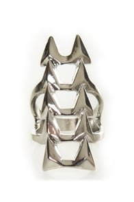 Ain't No Fang Silver Statement Ring at Lulus.com!