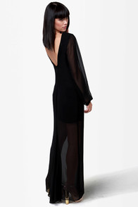 Rubber Ducky All You Can Sheath Black Maxi Dress at Lulus.com!
