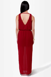 Life at the Lounge Wine Red Maxi Dress at Lulus.com!