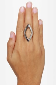 Point Taken Silver Statement Ring