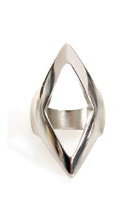 Point Taken Silver Statement Ring at Lulus.com!