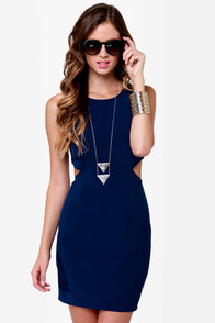 With a View Cutout Blue Dress at Lulus.com!