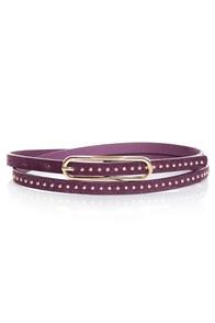 Lots of Dots Studded Purple Skinny Belt