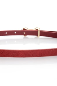 Rock the Bow-t Skinny Red Bow Belt at Lulus.com!