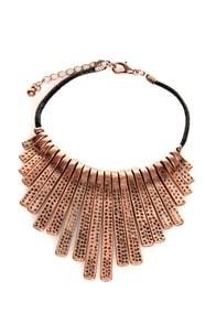 Fan-Dangle Copper Stamped Metal Bracelet