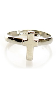 At Any Cross-t Silver Knuckle Ring