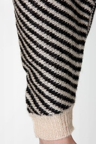 O'Neill Elk River Black and Beige Striped Sweater at Lulus.com!