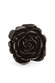 Zad Extreme Rose Black Rose Ring at Lulus.com!