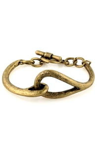 Over and Out Gold Bracelet at Lulus.com!