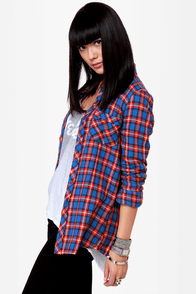 O\\\'Neill Free Style Plaid Button-Up Top