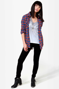 O'Neill Free Style Plaid Button-Up Top at Lulus.com!
