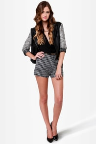 Pompidou Black Boucle Shorts at Lulus.com!