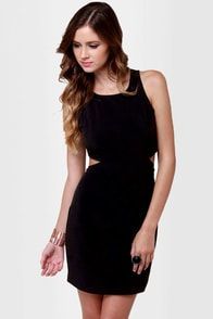 With a View Cutout Black Dress at Lulus.com!