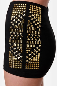 Stud Advisory Studded Black Shorts at Lulus.com!