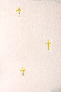Cross-Promotion Sheer Cream Print Top at Lulus.com!