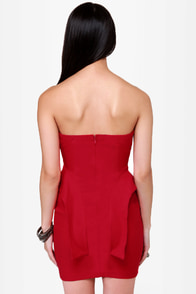 The Empire Spikes Back Studded Red Dress at Lulus.com!