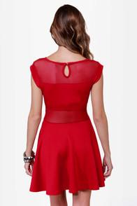 Center Piece Cutout Red Dress at Lulus.com!