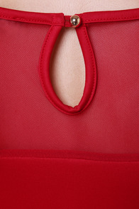 Center Piece Cutout Red Dress at Lulus.com!