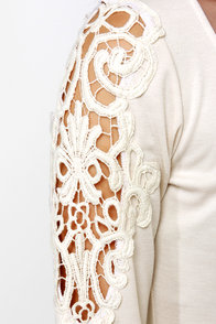Lacy Lady Cream Lace Dress at Lulus.com!