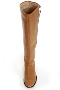 Mixx Shuz Daniel Tan Knee High Riding Boots at Lulus.com!