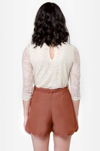 Pretty Penny Copper Shorts at Lulus.com!