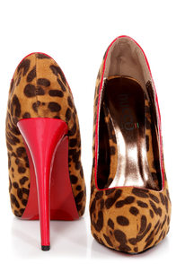 Capricorn Leopard Print and Red Platform Pumps at Lulus.com!