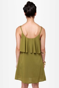 Canyon Dig It Olive Green Sequin Dress at Lulus.com!