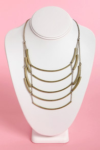 Rung at Heart Brass Necklace at Lulus.com!