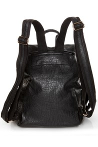 Get In Shine Studded Black Backpack