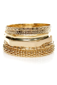 Gold Medley Winner Gold Bangle Set