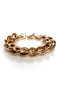 Groove-y Review Gold Bracelet at Lulus.com!