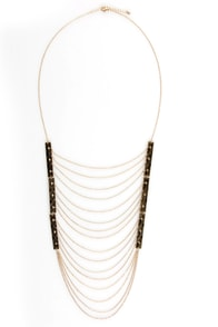 Shield of Dreams Gold Necklace at Lulus.com!