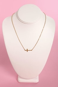 Crossed and Found Gold Cross Necklace at Lulus.com!