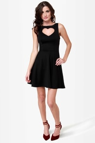 Te Amo Cutout Black Dress at Lulus.com!