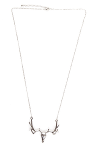 Stag Party Silver Necklace at Lulus.com!
