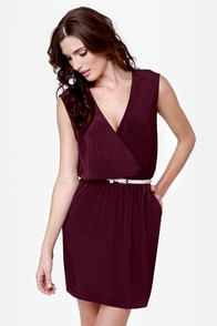 Gridding from Here to Here Cutout Plum Purple Dress at Lulus.com!