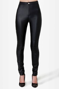 Mink Pink Hit the Road Black Moto Pants at Lulus.com!