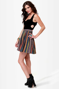 How Bazaar Black Guatemalan Print Dress