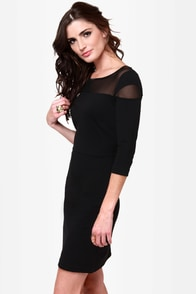 BB Dakota Jada Black Dress at Lulus.com!