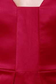 Satin-um Record Strapless Red Dress at Lulus.com!